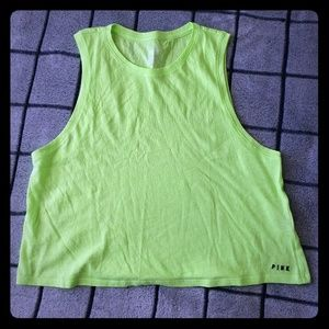 VS PINK NEON GREEN CROP TOP NEW SZ S